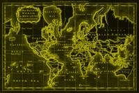 World Map (1766) Black & Yellow