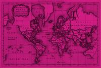 World Map (1766) Pink & Black