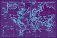 World Map (1766) Purple & White