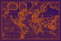 World Map (1766) Purple & Orange