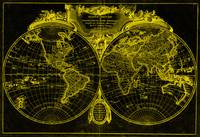 World Map (1775) Black & Yellow