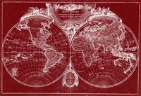 World Map (1775) Red & White