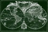 World Map (1775) Green & White