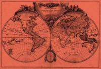 World Map (1775) Light Red & Black
