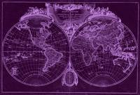 World Map (1775) Purple & Light Purple