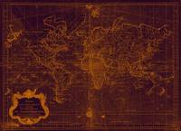 World Map (1778) Purple & Orange