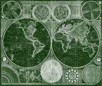 World Map (1794) Green & White
