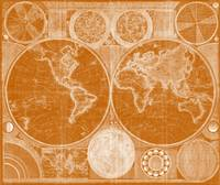World Map (1794) Orange & White