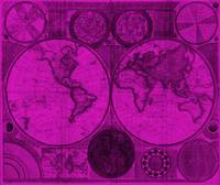 World Map (1794) Purple & Black