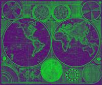 World Map (1794) Purple & Green