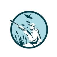 Duck Hunter Rifle Circle Retro