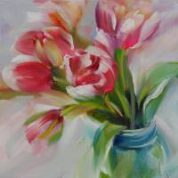Petite Pink Tulips by Beth Charles