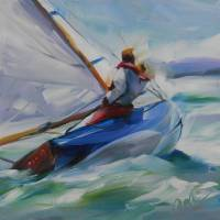 Lake Sailing by Beth Charles