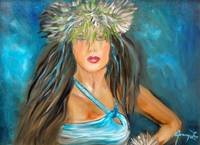 Hula Maiden in Blue