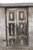 Weathered White Door