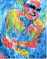 RAY CHARLES Portrait Contemporary Art JAZZ