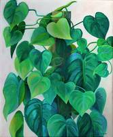 Hearts of Philodendron Painting