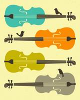 BIRDS ON CELLO STRINGS 3