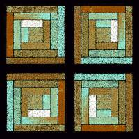 Earth and Sea Quilt Squares by Karen Adams
