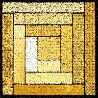 Yellow Patchwork Quilt Square by Karen Adams