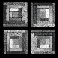 Black and White Quilt Squares by Karen Adams