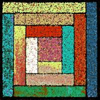 Colorful Patchwork Quilt by Karen Adams