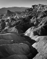 Zabriskie Point in Death Valley (B/W)