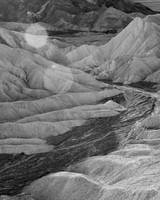 Death Valley Zabriskie Point (Valley - B/W)