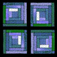 Purple Quilt Squares by Karen Adams