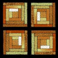 Golden Quilt Squares by Karen Adams