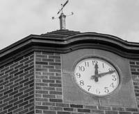 Nova Scotia Impressions-black & white clock