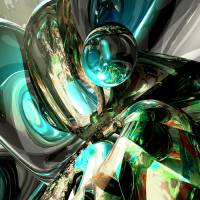 Cold Turmoil Abstract Art Prints & Posters by Alex Butler