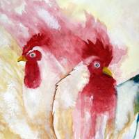 Hen&Rooster Art Prints & Posters by Eileen Blair