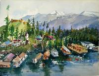 Watercolor - Lake & Boathouses