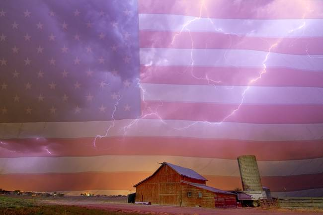 American Country Stormy Night