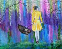 Spring Walk Abstract Landscape painting colorful