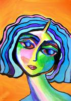 Abstract Lady Series A32916