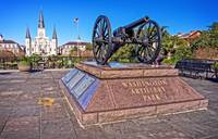 Washington Artillery Park and St. Louis Cathedral