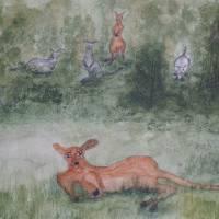 Kangaroos. Art Prints & Posters by Alan Skau