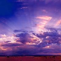 desert-sunrise-7-1-12e Art Prints & Posters by Ed Bonkowski