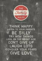 Be Silly Family Rules Wall Art
