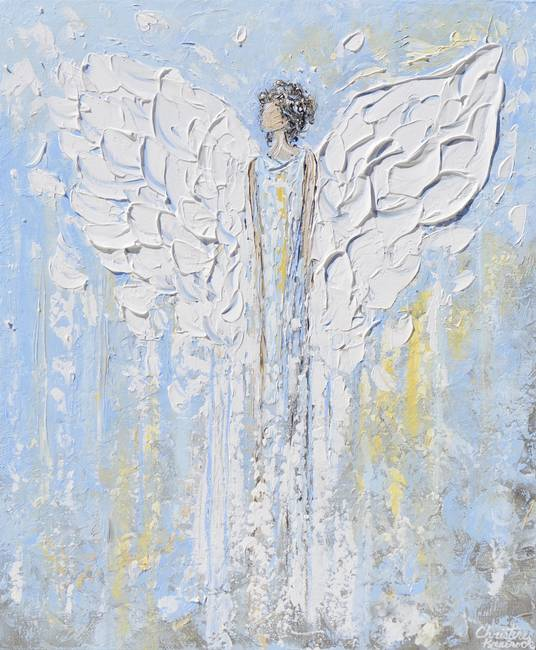 Stunning angel artwork for sale on fine art prints for Angel paintings for sale