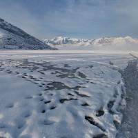 Frozen Deer Creek Reservoir in Utah Art Prints & Posters by Alan Mitchell
