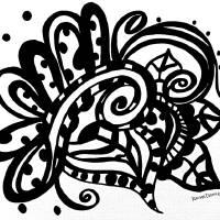 Happy Swirl Doodle Art Prints & Posters by Rachel Maynard
