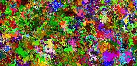 Abstract colors style flowers