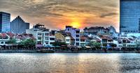 Sunset Singapore River