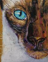 Siamese Cat Painting