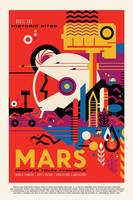Visit the Historical Sites of Mars Travel Poster