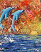 Neil Collins Twin Dolphins