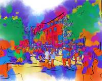 Street Scene In Soft Abstract
